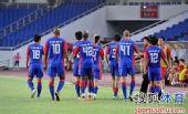 图文:[中超]重庆1-0河南 力帆庆祝进球