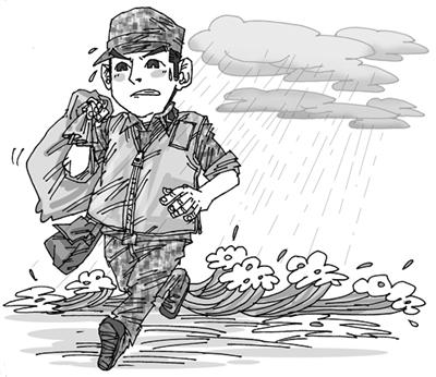 解放军简笔画-面对考验勇于担当