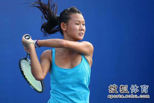 组图:北京国际网球挑战赛 赵迪对阵饭岛久美子