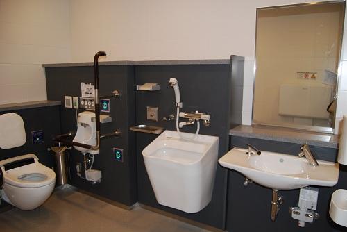 日本 崔寅摄/羽田国际机场多用途卫生间。人民网记者崔寅摄