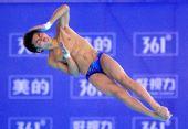 图文:跳水明星赛武汉站男子10米台 陈艾森夺冠