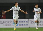 图文:[中超]长沙VS杭州 汪嵩庆祝进球