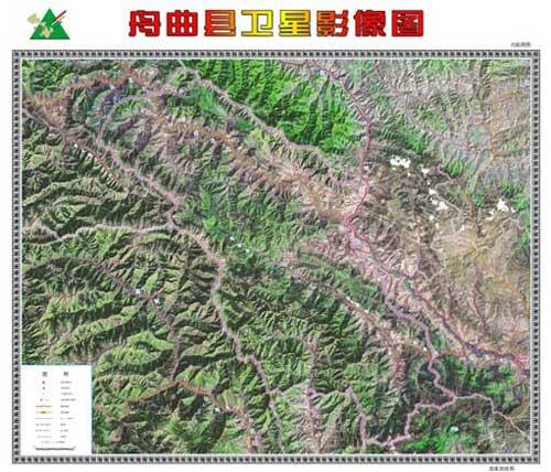 舟曲县高清卫星影像图
