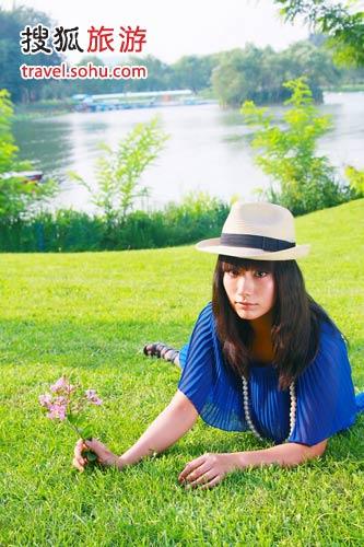 朝阳公园也是美女扎堆的好去处