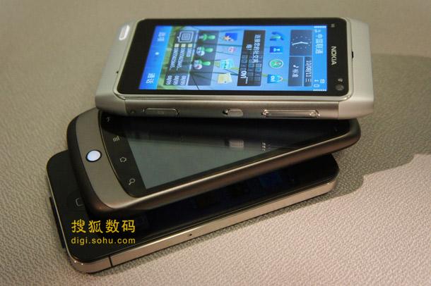 诺基亚N8对比iPhone 4和Nexus One