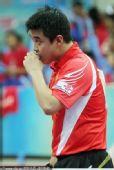 图文:[乒超]八一男团2-3上海 王皓摩拳擦掌
