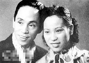 年轻时的郎筠玉与丈夫