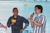 图:崔永元老师与姜文畅谈《我的抗战》拍摄