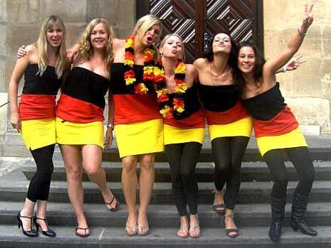德国美女球迷