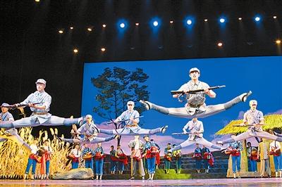相伴.这,就是总政歌舞团新创大型舞剧《铁道游击队》(以下简称《