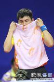 图文:中乒赛男单第二轮赛况 陈�^有点累了