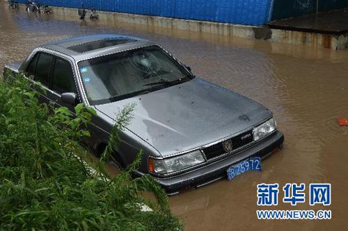 8月21日拍摄的鸭绿江丹东段江边。新华社发(赵贵梁摄)