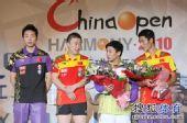 图文:中国乒乓球赛颁奖仪式 男双冠亚军