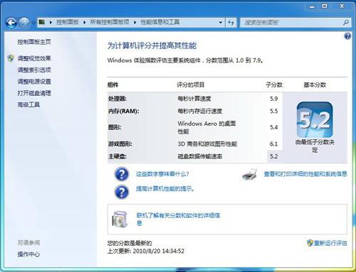 Windows 7索引得分