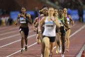 图文:钻石联赛布鲁塞尔站 塞门亚在800米赛中