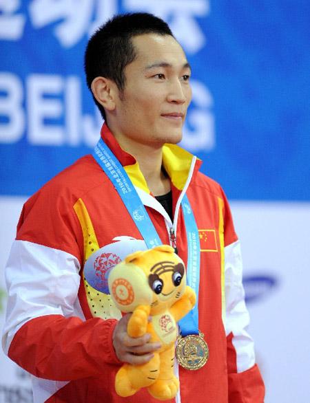李海明在领奖台上