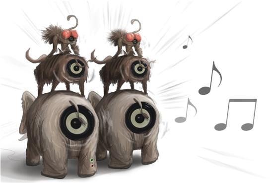 水果动物都模仿 最恶搞户外音箱