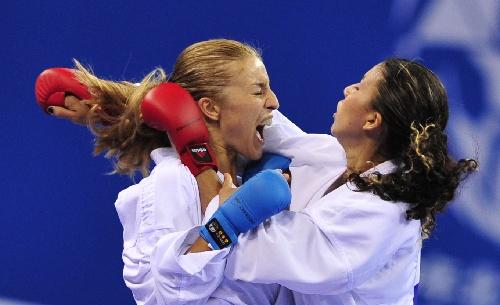 空手道女子55公斤级决赛 科瓦切维奇喊叫
