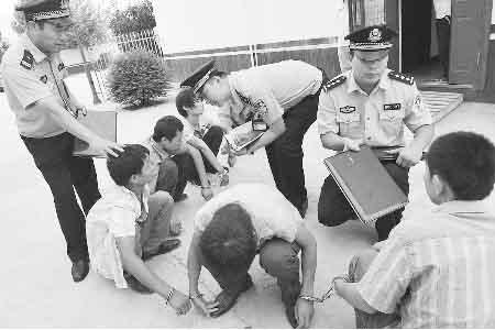 郑州11人聋哑团伙街头屡抢女司机 组织严密(图)