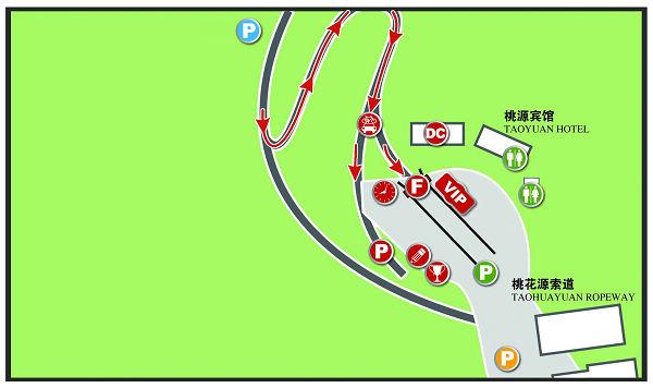 配图:泰山赛段终点布局图
