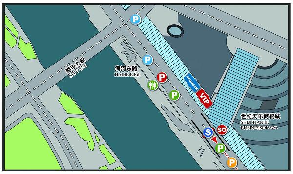 配图:天津赛段起点布局图