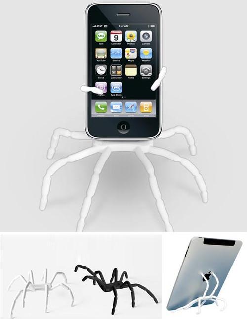 搞怪设计 蜘蛛造型的iPad底座现身网络