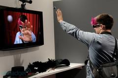 松下展示首款旗下3D数码摄像机新品实物
