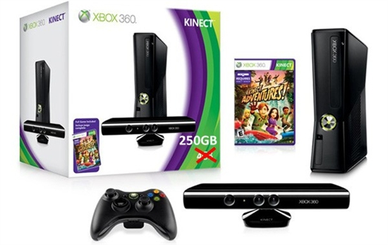 微软宣布250GB版Xbox 360、Kinect捆绑套装