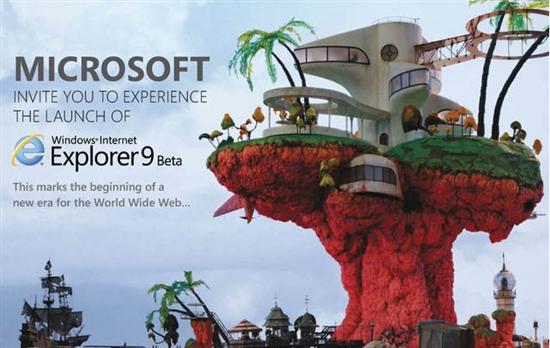 微软邀请虚拟乐队Gorillaz为IE9 Beta造势