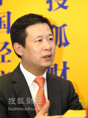 特步(中国)有限公司主席行政总裁丁水波 摄影:于磊