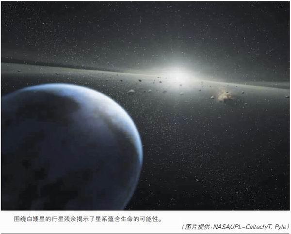 围绕白矮星的行星残余揭示了星系蕴含生命的可能性
