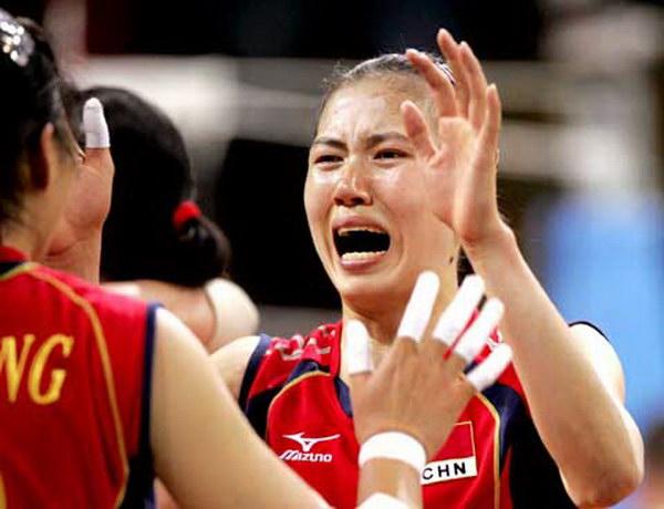 2004雅典奥运会 夺冠后喜极而泣