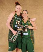图文:风暴队夺WNBA总冠军 杰克逊与伯德