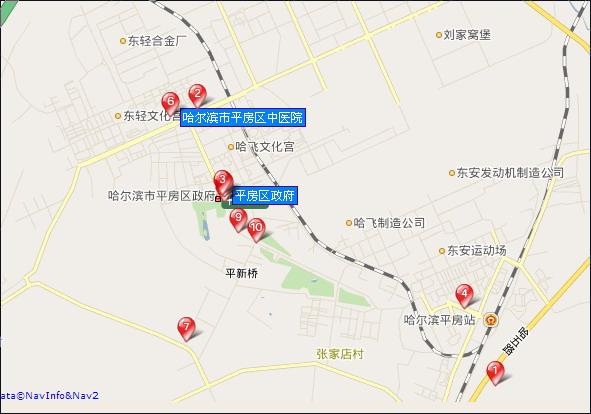 哈尔滨市平房区所在位置示意图