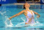 图文:花游世界杯单人决赛 克里斯蒂娜表演