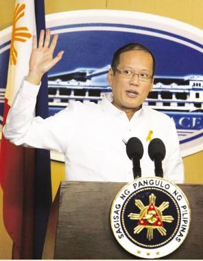菲总统阿基诺三世20日在新闻发布会上