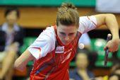 图文:女乒世界杯小组赛首轮 帕蒂卡发球瞬间