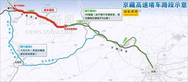 京藏高速公路在内蒙古乌兰察布段和河北张家口段与京新高速公路(g7)是