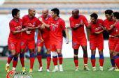 图文:[中超]大连2-2重庆 重庆队集体庆祝