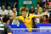 图文:女乒世界杯第二日赛况 郭焱正手抽杀