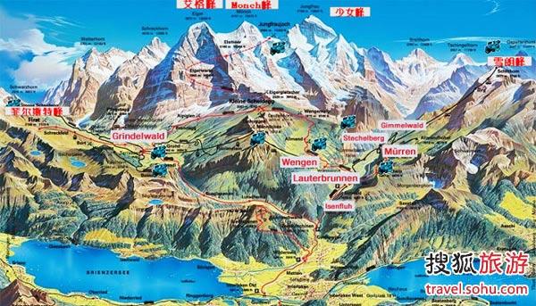 雪朗峰地理示意图