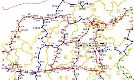 图14 中国有线电视网络华北地区光缆线路分布图
