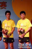 图文:乒超男团决赛第三回合 朱世赫与张继科