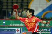 图文:乒超男团决赛第三回合 朱世赫扣球瞬间