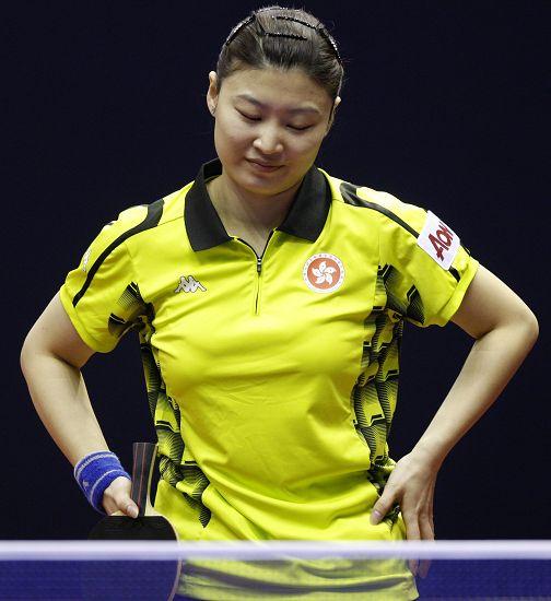 图文:女乒世界杯26日赛况 姜华�B一脸无奈