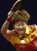 图文:女乒世界杯26日赛况 郭焱奋力提拉