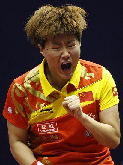 图文:女乒世界杯26日赛况 郭焱忘情庆祝