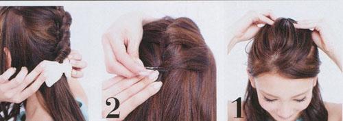 九款跟风编织发型 扮嫩扮淑女必学图片
