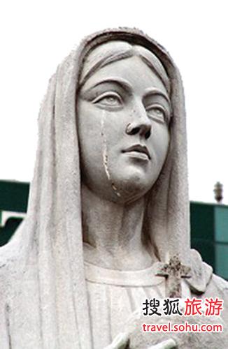 圣母像流眼泪