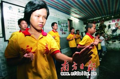 清远地区对咏春拳感兴趣的女学员越来越多。李细华摄
